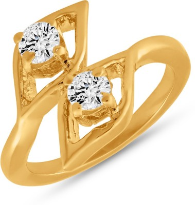Mahi Lozenge Alloy 24K Yellow Gold Ring