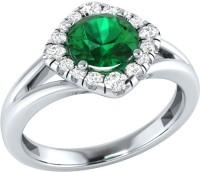 Demira Jewels Alluring White Gold Emerald, Diamond 14K White Gold Ring best price on Flipkart @ Rs. 16671