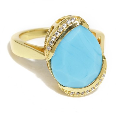 Dressberry Gold Crystal Enamel Plated Ring at flipkart