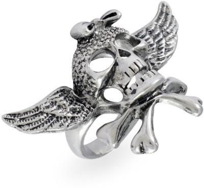 Sarah Skull with Wings Metal Ring
