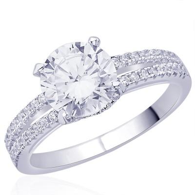 Peora Milestone Sterling Silver Rhodium Ring
