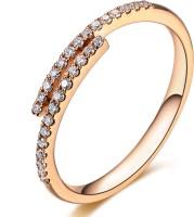 Sheetal Diamonds Party Wear Metal Diamond 14K Rose Gold Ring best price on Flipkart @ Rs. 21449