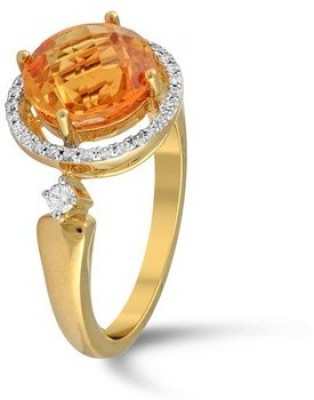 VelvetCase This bold ring is something! Wear it and look classy always. Gold Citrine Ring