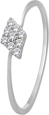 Glitz Design 0.08 CTW Kite Shape Cluster 14kt Diamond White Gold ring