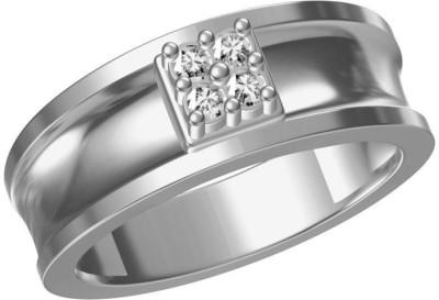 AG Jewellery Mamata Sterling Silver Swarovski Crystal Ring