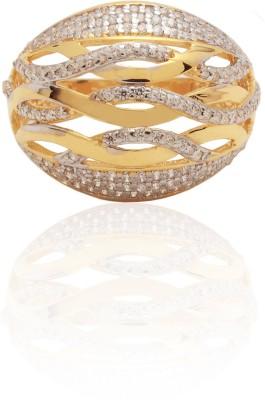 Kundan Jewellers Pvt Ltd 18kt Cubic Zirconia Yellow Gold ring