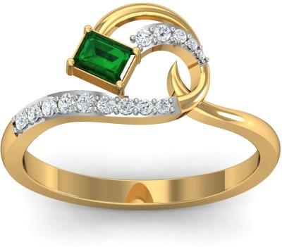 DishiS Designer Jewellery Lotus 18kt Diamond Yellow Gold ring