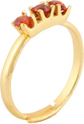 Fine Jewellers Brass Garnet Ring