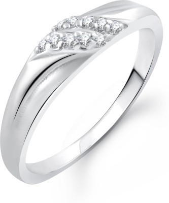 Meenaz Sweet Heart Rhodium Alloy Cubic Z...