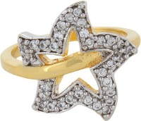 Moda Stella American Diamond 24 Karat Gold Plated Diamond Looking Star Ladies Ring Brass 24K Yellow Gold, Rhodium Ring best price on Flipkart @ Rs. 174