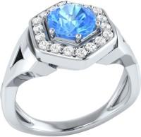 Demira Jewels Cluster Style White Gold Topaz, Diamond 14K White Gold Ring best price on Flipkart @ Rs. 18900