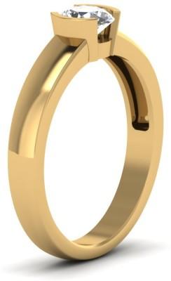Vizyra Eyecatching Silver Swarovski Zirconia, Swarovski Crystal Platinum Ring