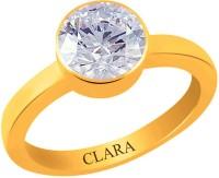 Clara Zircon 6.5 carat or 7.25ratti Panchdhatu Silver Cubic Zirconia Yellow Gold Ring best price on Flipkart @ Rs. 1620
