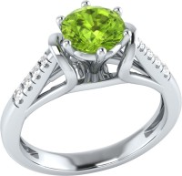 Demira Jewels Dazzling White Gold Peridot, Diamond 14K White Gold Ring best price on Flipkart @ Rs. 17769