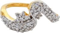 Moda Stella American Diamond 24 Karat Gold Plated Diamond Looking Ladies Ring Brass 24K Yellow Gold, Rhodium Ring best price on Flipkart @ Rs. 174