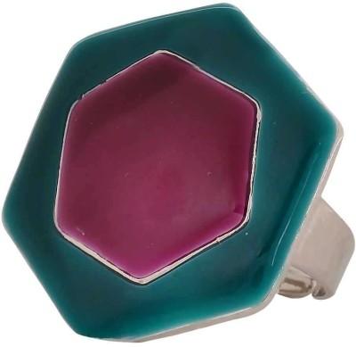 Maayra Darling Designer Alloy Crystal Rhodium Plated Ring at flipkart