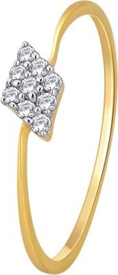 GlitzDesign 0.08 CTW Kite Shape Cluster 18kt Diamond Yellow Gold ring