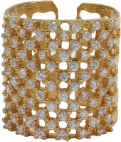 Moda Stella American Diamond 24 Karat Gold Plated Diamond Ladies Ring Brass, Alloy 24K Yellow Gold Ring best price on Flipkart @ Rs. 224