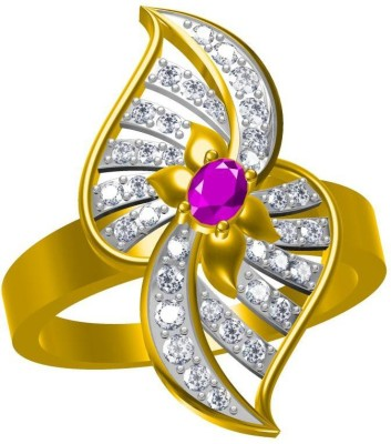 Twisha Twisha Beautifull Cz Alloy Ring Alloy Cubic Zirconia Yellow Gold Ring