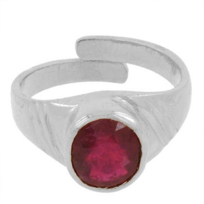 SMS Retail Bella Stone Ruby Rose Gold Plated Ring at flipkart