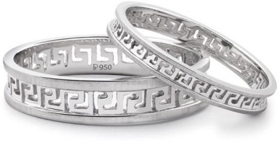 Suranas Jewelove Carved Out Love Bands Sj Pto 135 Platinum Ring Set