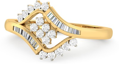 WearYourShine by PC Jewellers The Parisa 18kt Diamond Yellow Gold ring at flipkart