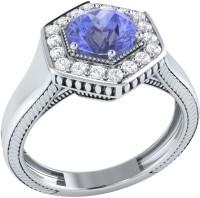 Demira Jewels Sparkling Bead White Gold Tanzanite, Diamond 14K White Gold Ring best price on Flipkart @ Rs. 21041
