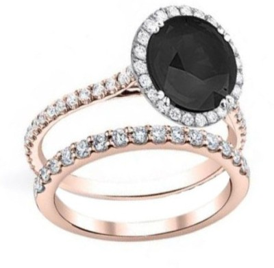 FORTUNE JEWEL Alloy Cubic Zirconia 18K White Gold Ring