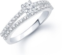 VK Jewels VK Jewels Friendship Rhodium plated Ring Alloy Cubic Zirconia Rhodium Plated Ring