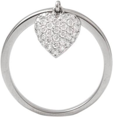 Suranas Jewelove Heart Platinum Diamond Ring