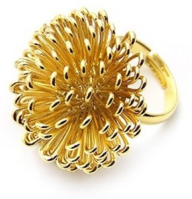 Cinderella Collection By Shining Diva Appealing Golden Alloy Ring