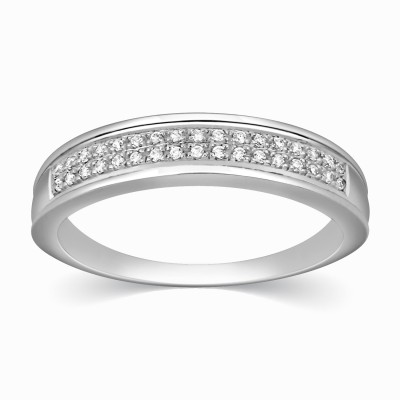 Kama Jewellery Cambrie 9kt Diamond White Gold ring