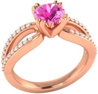 Demira Jewels Solitaire Rose Gold Sapphire, Diamond 14K Rose Gold Ring best price on Flipkart @ Rs. 18993