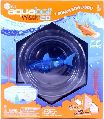 Hexbug Aquabot 2.0 With Bowl - Teal Robot Aquarium Animal