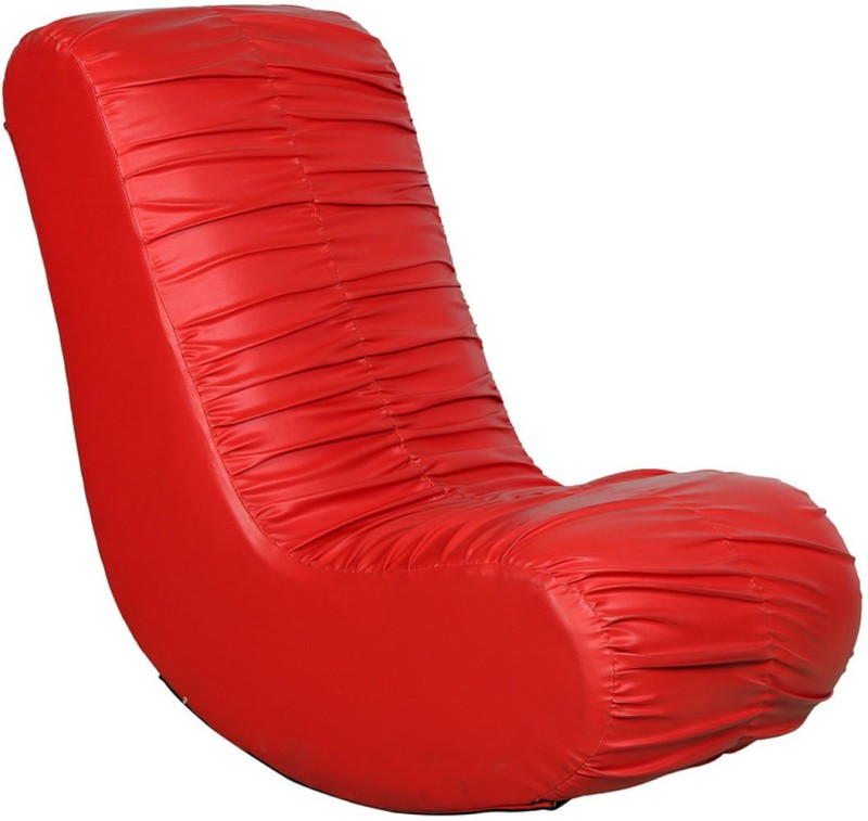 Parin Leatherette 1 Seater Rocking Chairs(Finish Color - Red)