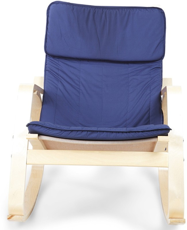 HomeTown Vita Blue Engineered Wood 1 Seater Rocking Chairs(Finish Color - Beige)