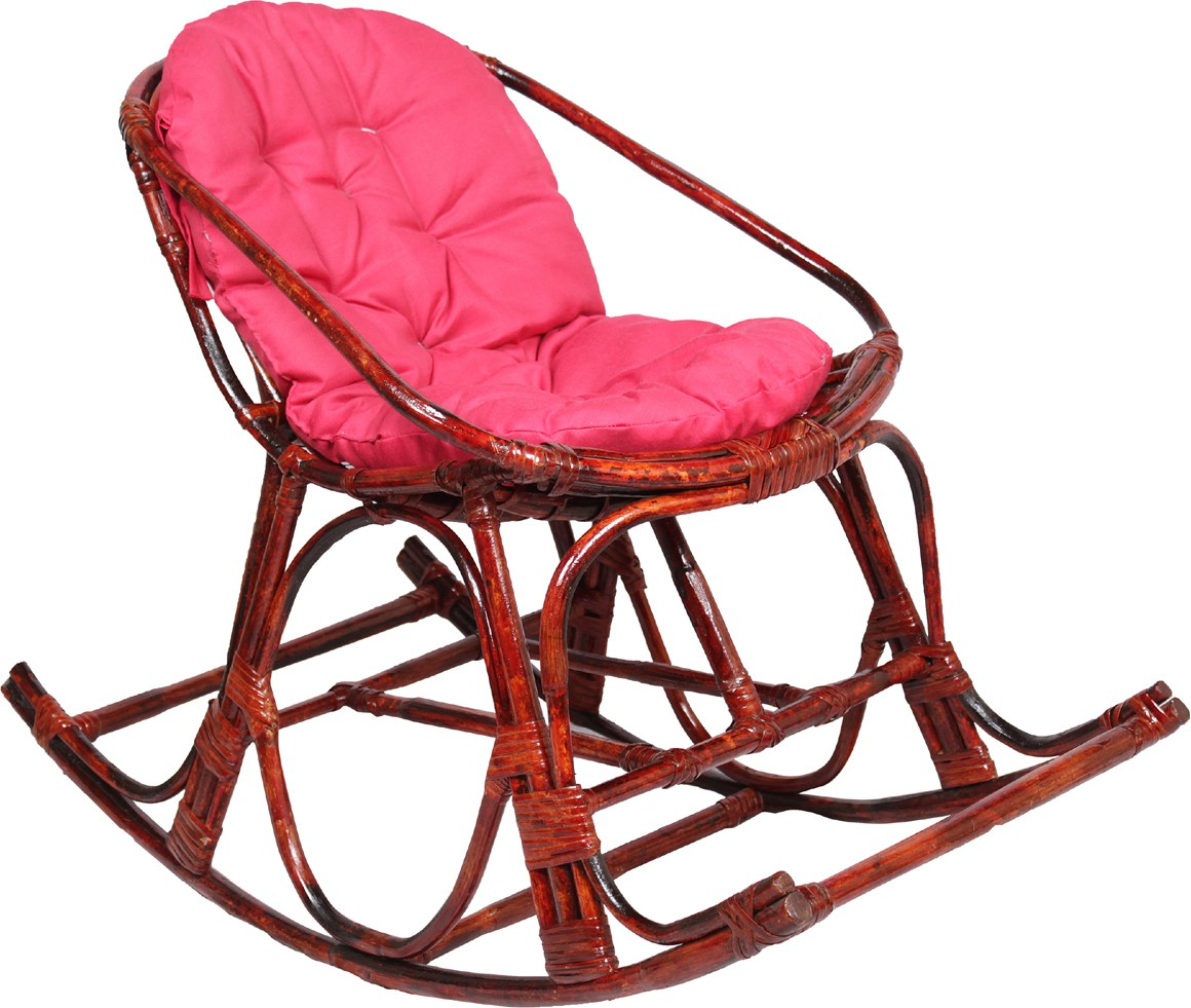 Novelty Cane 1 Seater Rocking Chairs(Finish Color   Brown)
