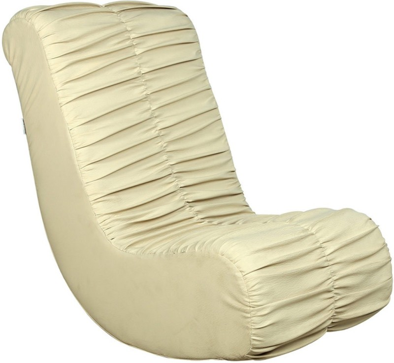 Parin Leatherette 1 Seater Rocking Chairs(Finish Color - Ivory)