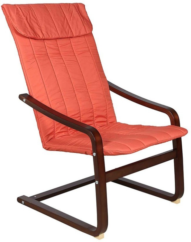 Parin Fabric 1 Seater Rocking Chairs(Finish Color - wooden Finish)