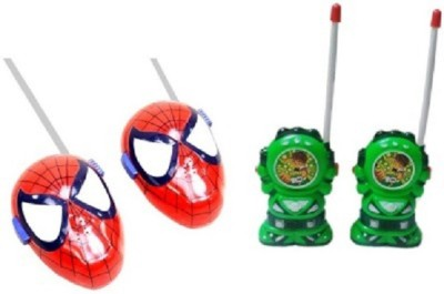 Toyoz Combo Of Ben-10 and Spider man Walkie Talkie.