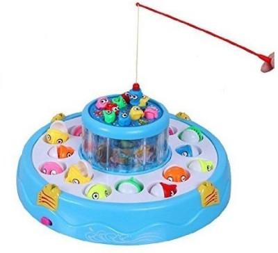 Udee GOGO Fishing Electronic Double-layer Rotating Fishing Toy Set