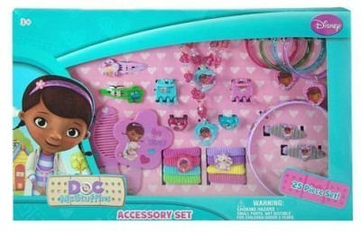 Disney Doc McStuffins 25 Piece Kids Jewelry and Hair Accessory Gift Set