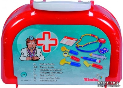 Simba Doctor+ 9 Pcs Plastic Doctor Play Set