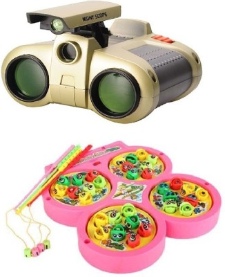 New Pinch Fishing Catching Game With Night Scope Binoculars With Pop-Up Light