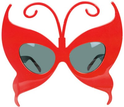 Funcart Red Butterfly Glasses
