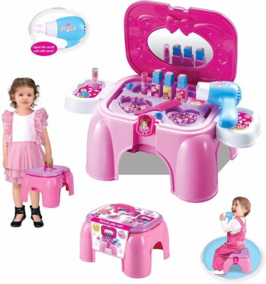 Toys Bhoomi 2 In 1 Beauty Play Set & Cha...