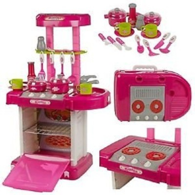 Comfort Living Beautiful Battery Operated Modern Kitchen Play Set
