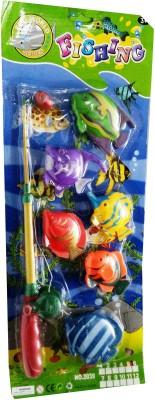 Shop & Shoppee Fishing Game set with Rod & 6 fish