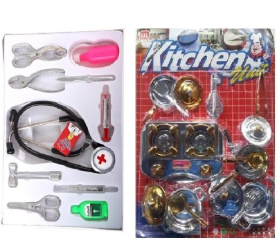 New Pinch Doctor play set with kitchen set (multi color)