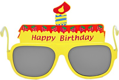 Funcart Yellow Happy Birthday Glasses